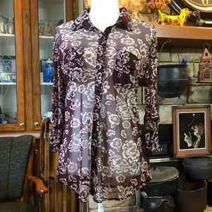 Eden & Olivia size Large 3/4 sleeve button up